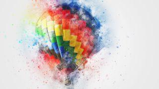 luchtballon tekening